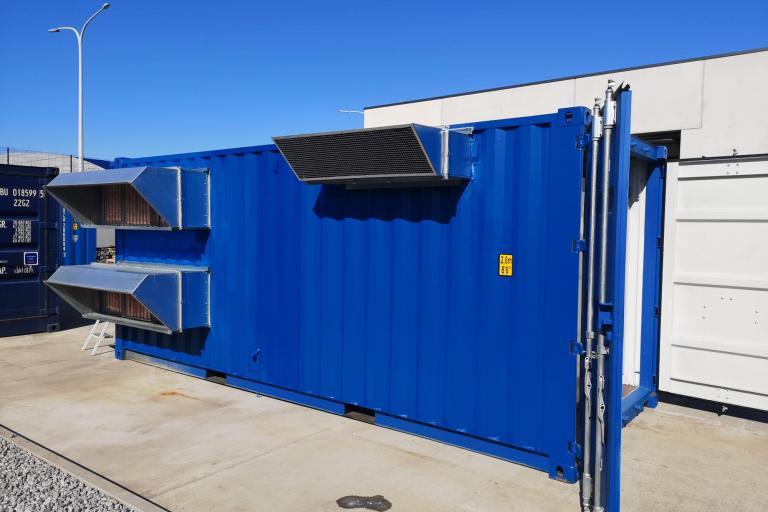 Centrale d'air intégrer dans un container