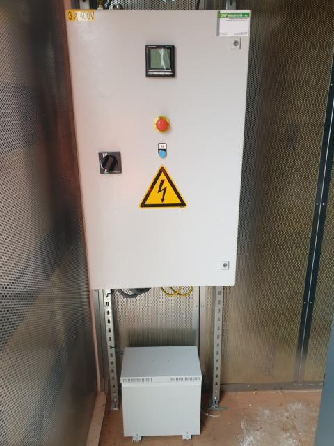 Electrical installation inside container